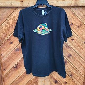 American Apparel Melting Rubix Cube Tshirt